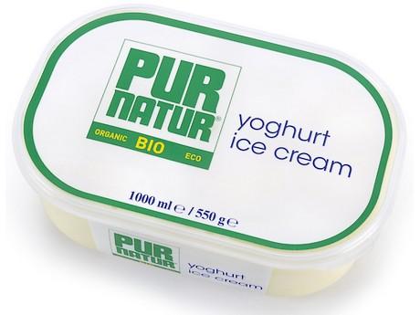 Pur Natur nieuw biologisch yoghurtijs pur natur